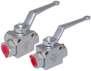 """Hydraulic 2 or 3 Way T or L Ported Ball Valve 3/8"""" BSP - High Pressure 500 Bar"""