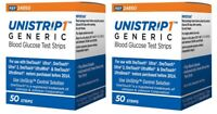 UniStrip Glucose Test Strips 100 ct Generic For One Touch Ultra Strips EXP 08/22