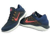 Nike Free RN Flyknit 2018 Black Navy Training Running Shoes 942838-068 Size 8-13