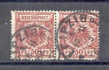 DR 1889 50a PAAR FRÜHDATUM BPP (M4999