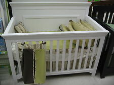 Parker 4 in 1 Convertible Crib-White