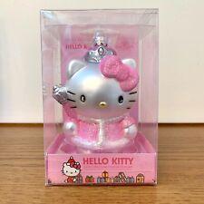 HELLO KITTY Sanrio 2010 KURT ADLER Christmas Ornament Glass Hand Crafted PINK