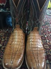 Lucchese Crocodile Caiman Boot 11ee Hornback Wide Brand New