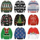 Unisex Womens Ladies Christmas Jumper Knitted Vintage Xmas Novelty Men Sweater