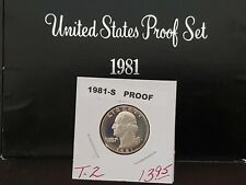 CAMEO 1981-S  TYPE 2 PROOF WASHINGTON QUARTER PERFECT COLLECTION COIN IN 2X2