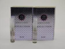 2 x Amouage REFLECTION MAN EDP Eau de Parfum 2ml Vial Spray New With Card
