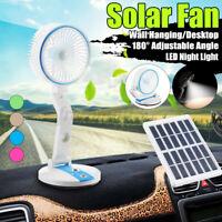 Solar Panel Power Portable Fan Desk Cooling USB Fan Cell Foldable Cooler
