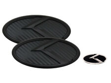 K Logo Black Carbon & Black Edition Emblem 3pc SET (Fits: KIA 2020+ Telluride)