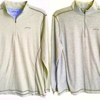 Orvis Classic Collection Mens Large 1/4 Zip Pullover L/S Choose Green OR Blue