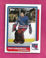 1986-87 TOPPS  # 9 RANGERS JOHN VANBIESBROUCK  ROOKIE NRMT-MT CARD (INV# C3781)