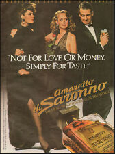 1984 Print Ad for Amaretto Saronno`Sexy Ladies Bottle Black Dress (092616)