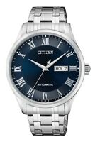 CITIZEN NH8360-80L Automatic Day Date Blue Dial Stainless Steel 50m Men's Watch