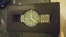 Gents Military Wristwatch Australian Diver Quartz Steel Bracelet NEW IN BOX VGC