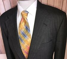 Brooks Brothers 100% Wool Gray Pinstripe Jacket Sport Coat Blazer Sz 42L USA