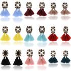 Sexy Elegant Women Fashion Jewelry Rhinestone Ear Stud Earrings Crystal Tassel