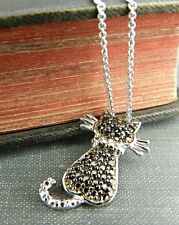 Thailand Sterling Silver Pretty Kitty Cat Necklace