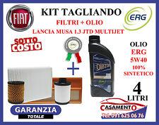 KIT TAGLIANDO LANCIA MUSA 1.3 MULTIJET  FILTRI + OLIO MOTORE ERG 5W40 SINTETICO