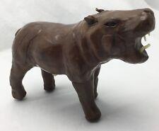 Handmade Angry Aggressive Leather Hippo Hippopotamus Figure Made in India