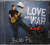 Brad Paisley Signed Love And War Un-Opened CDC UACC RD COA AFTAL