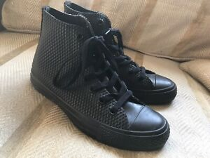 CONVERSE BLACK RUBBER HIGH TOPS, SIZE 5, BOOTS, TRAINERS,MEN/WOMENS/YOUTH