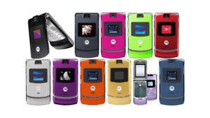 Motorola RAZR V3 Unlocked Flip Mobile Phone BOX PACK