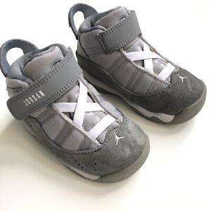 Nike Air Jordan 6 Rings Toddler Size 6C Cool Grey Sneakers Shoes