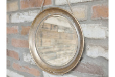 ROUND GOLD MIRROR VINTAGE ANTIQUE STYLE METAL WALL MIRROR  DISTRESSED FINISH