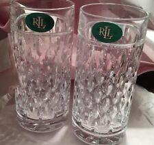 New!!! Polo RALPH LAUREN Aston Highball  GLASSES Crystal Set Of 4