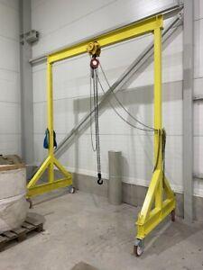 Lifting Gantry Movable Portable Mobile Steel A Frame 3 Ton SWL 3000kg