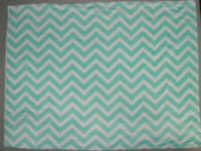 "Aqua Fleece Chevon Baby Blanket Nubby fleece back 34"" x 44"" Cosco?"