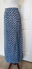 "Michael Kors Skirt, Blue & White Floral Size L, Lined Skirt, 24.5""  Side Slit"
