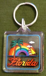 "Fun 1"" Florida Souvenir Plastic Keychain"