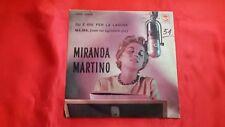 DISCO 45 giri  - MIRANDA MARTINO - SU E GIU PER LA LAGUNA / MA-MA - 1959