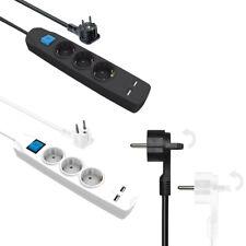 Steckdosenleiste mit 2x USB Mehrfachstecker 3 fach Schalter  Steckdosen Winkel