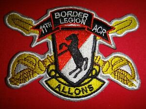 US 11th Armored Cavalry Regiment BORDER LEGION - ALLONS Vietnam War Patch