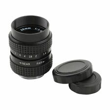 Television TV Lens/CCTV Lens for C Mount Camera 25mm F1.4 in Black V5T4