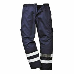 """Portwest Iona Safety Trousers S917 Navy 31"""" Leg XX Large"""