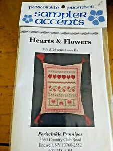 """""""HEARTS & FLOWERS"""" - A SILK & 28 COUNT LINEN KIT - FROM PERIWINKLE PROMISES"""