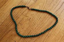 bijoux / collier fantaisie perle  malachite ref 105