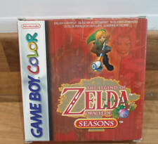 Zelda Oracle of Seasons Nintendo Game Boy Color OTTIMO completo in scatola di collegamento