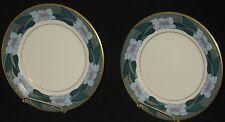 "VINTAGE PICKARD Set of 2 PLATES HP BALI PATTERN 8 1/4"" DIAMETER POST 1938"