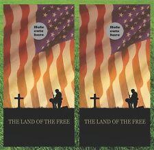 Soldier Prayer Military American Flag Cornhole Wrap Set - Fast Shipping!!