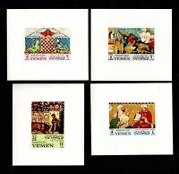 YEMEN,1967, MI 412-19, MNH, MOORISH ISLAMIC ART IN SPAIN, IMPERF PROOFS, FX-B