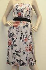 $2295! New DOLCE & GABBANA Nude Pink Floral Black Belt SILK Strech Dress 40