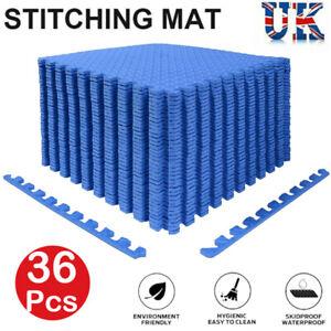 36Pcs Eva Soft Foam Interlocking Floor Mats Wood Effect Garage Exercise Gym Play