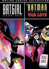 BATGIRL: YEAR ONE & BATMAN ADV: MAD LOVE MOTION Region Free DVD - Sealed