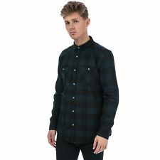 Timberland Buffalo Check Flannel Shirt In Navy Green Long Sleeve size XL BNWT