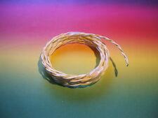 1 m MUNDORF Silbergold Draht silvergoldwire sgw215wh/ye 2x1,5mm PTFE weiss/gelb