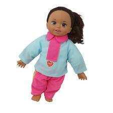 """12 """"weiche Babypuppe mit braunen Haaren offenen Augen echte Suche nach"""