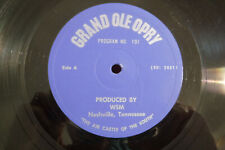 "Billy Walker/Maybelle Carter..., Grand Ole Opry, Program No. 191, 12"" 33 RPM"